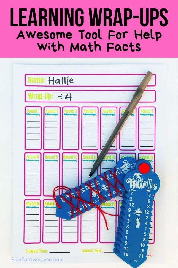 Learning Wrap-Ups are an awesome educational summer activity! Being a math tutor, I love the math bundle, and I use them all the time with students who are struggling with their math facts.