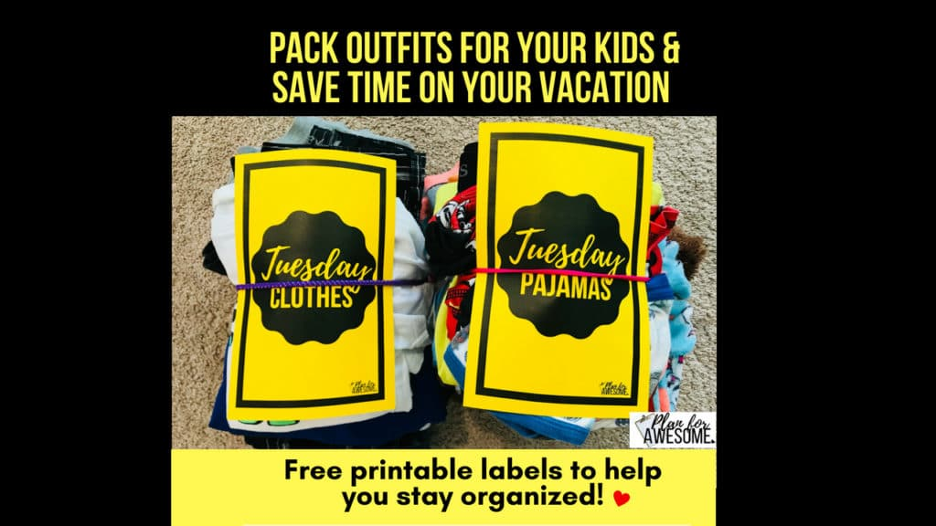 Kids REALLY CAN Help You Pack! Free Printable to Help!