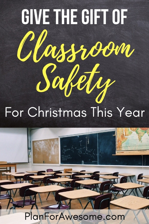 Give the Gift of Classroom Safety for Christmas This Year - A Teacher Lockdown Kit is every teacher's dream gift! PlanForAwesome