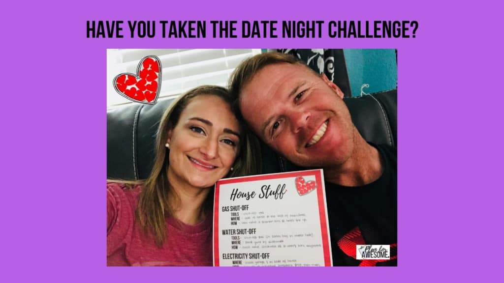 Have you taken the date night Challenge? Strengthen Your Marriage AND Your Home at the Same Time - PlanForAwesome