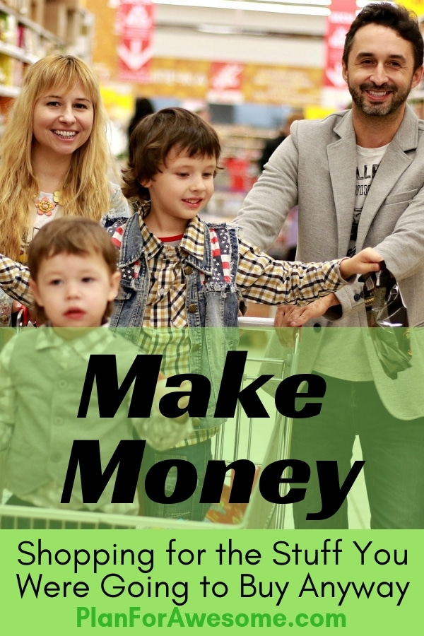 Literally Make Money by Doing What You're Already Doing - there is no catch. If you shop online, register with this website and make money by purchasing what you already would have purchased anyway. It's FREE MONEY! PlanForAwesome