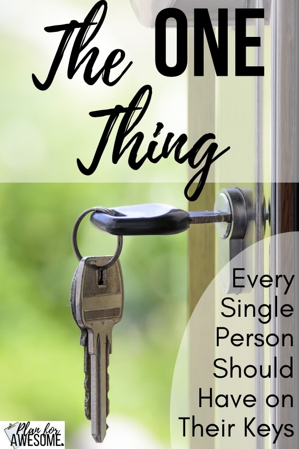 The ONE Thing Every Single Person Should Have on Their Keys - I can't tell you how many times I've used this! It also makes the PERFECT Stocking Stuffer. This is one $5 purchase you won't regret! PlanForAwesome