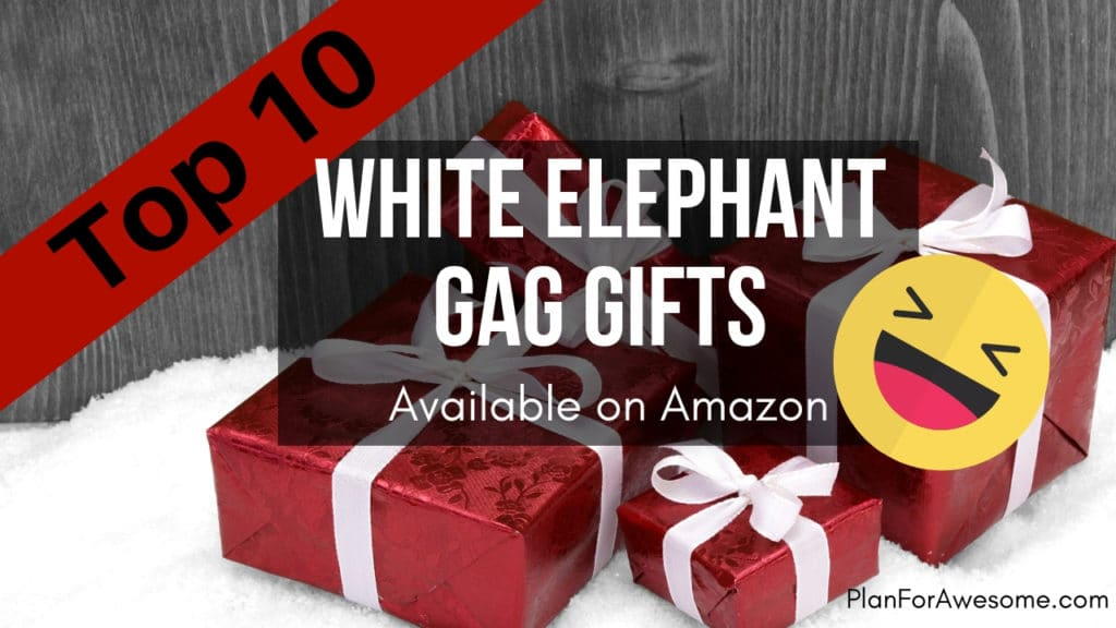 Top Ten White Elephant Gag Gifts Available on Amazon -If you need fast shipping on hilarious white elephant gag gifts, check out this list of awesome options available on Amazon!