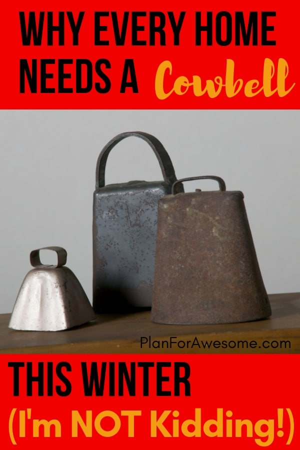Why Every Home Needs a Cowbell This Winter (I'm Not Kidding!) - Sick kid remedies, what to do when a kid gets the flu, tending to your sick child - PlanForAwesome #sickkids #momhacks