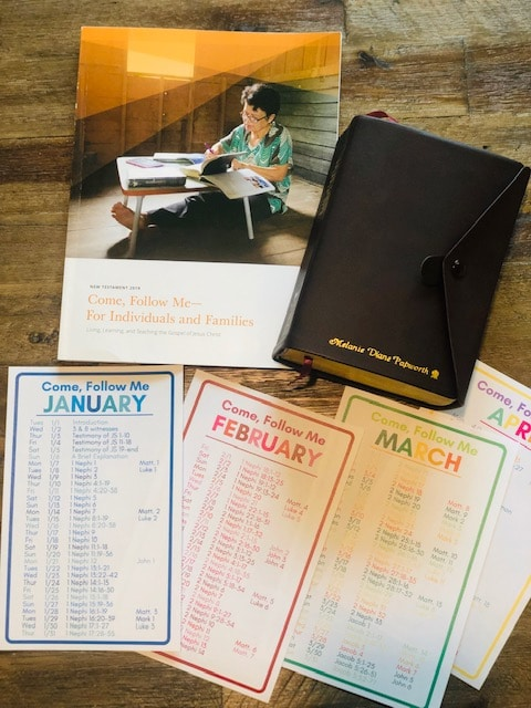Free Printable Come, Follow Me 2019 Reading Schedule for the New Testament and Book of Mormon - A schedule for the entire year to finish both books of scripture in the year 2019! PlanForAwesome