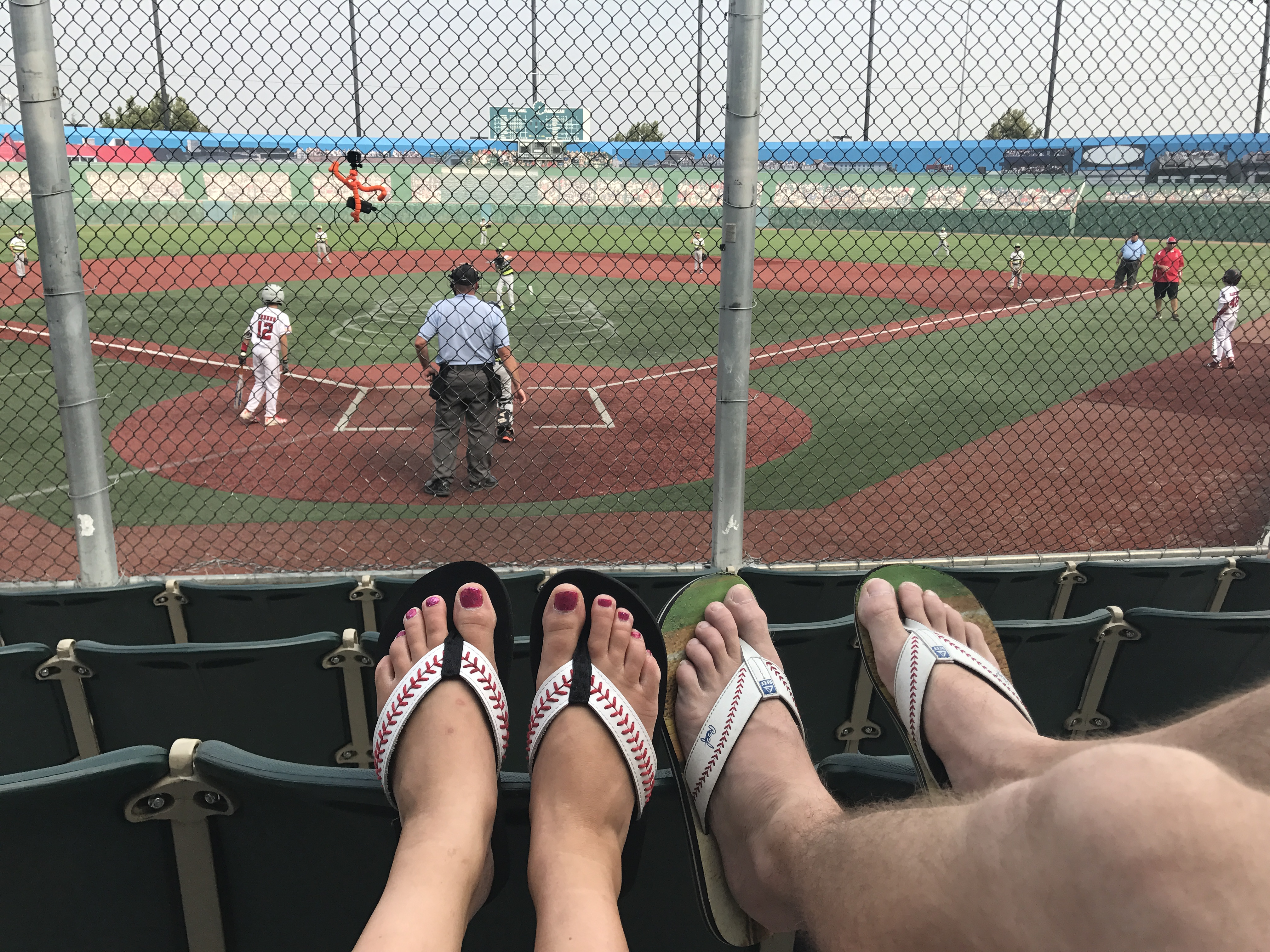 Baseball Flip Flops -Love these baseball flip flops! I wear them All. The. Time. They are comfy and adorable- I have gotten more compliments on these sandals than any other item of clothing I've ever owned! PlanForAwesome