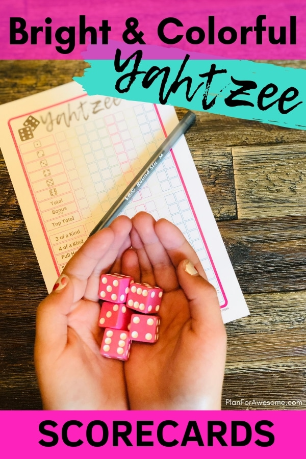graphic regarding Free Printable Yahtzee Score Cards identify Absolutely free Printable YAHTZEE Scorecards - Brilliant Vibrant for