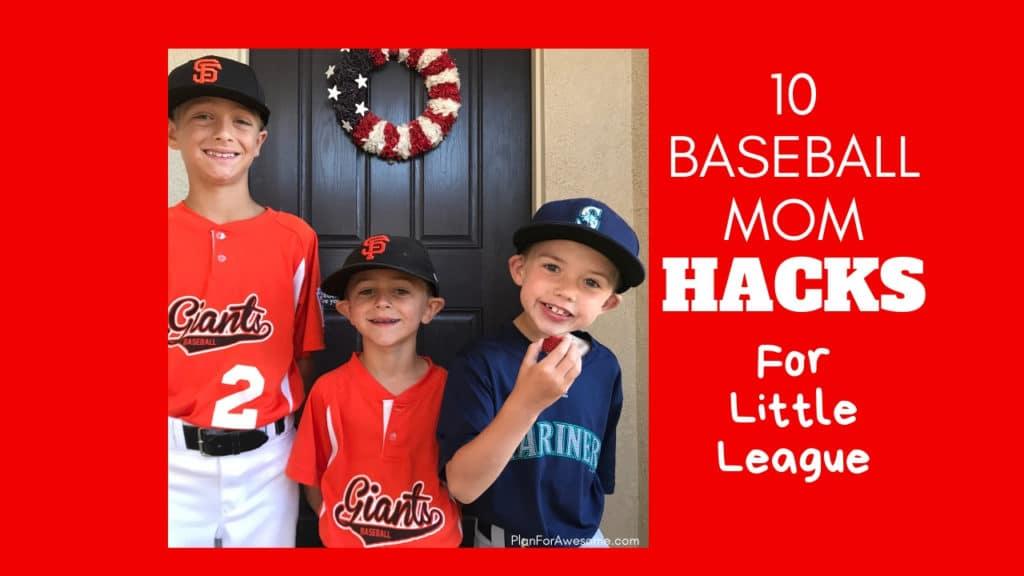 Love these hacks! This girl has awesome ideas - can't wait to use them this baseball season! PlanForAwesome #baseballmom #littleleague #baseballtips #baseball
