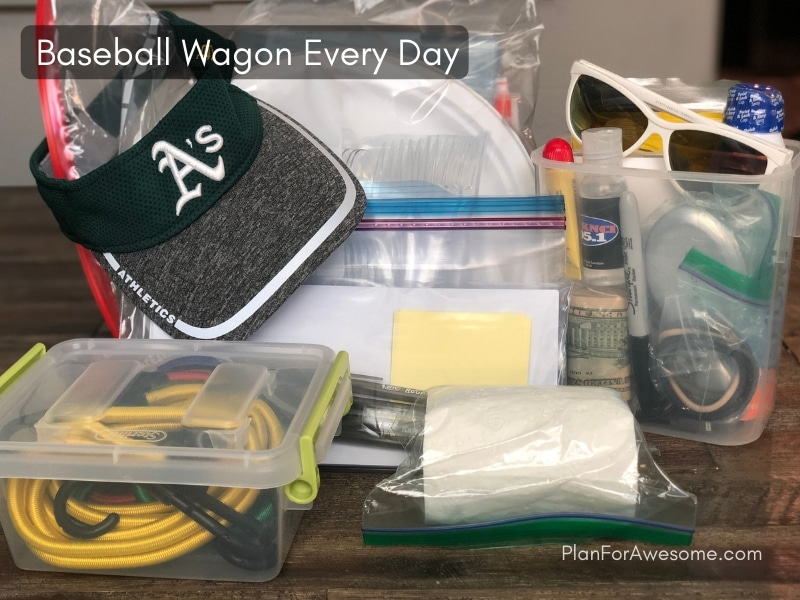 Baseball Wagon: The Ultimate List of Things to Bring on Little League Game Days - This is the BEST, most comprehensive resource I have seen for what to bring to be prepared for baseball games. This girl covers EVERYTHING, and even has a free printable checklist!