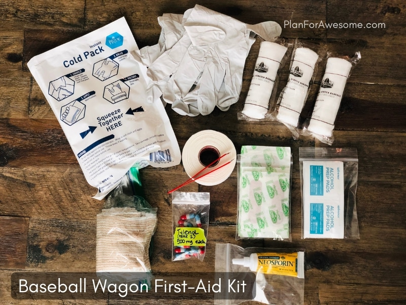 Baseball Wagon: The Ultimate List of Things to Bring to Baseball Game Days - This is the BEST, most comprehensive list I have seen for what to bring to be prepared for baseball game days. This girl covers EVERYTHING, and even has a cute free printable checklist!