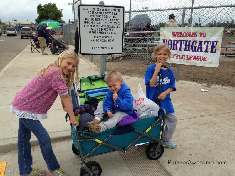 Baseball Wagon: The Ultimate List of Things to Bring to Little League Games - This is the BEST, most comprehensive list I have seen for what to bring to be prepared for Little League baseball game days. It covers EVERYTHING! Plus, a free printable checklist!