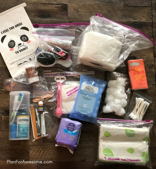 72-Hour Kits for Kids & Babies - Detailed, comprehensive, printable list of things to pack in a 72-hour kit for kids and/or babies. Printable Emergency Information Card to fill out and stick in your child's bag in case you are separated - PlanForAwesome