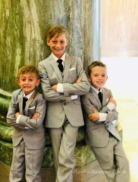 The BEST slim fit dress suits for boys; unbeatable quality, stylish, and affordable! Perfect for all occasions - weddings, funerals, and just plain church!
