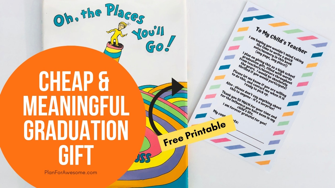 picture about Oh the Places You'll Go Printable named Economical Significant Commencement Present with Free of charge Printable