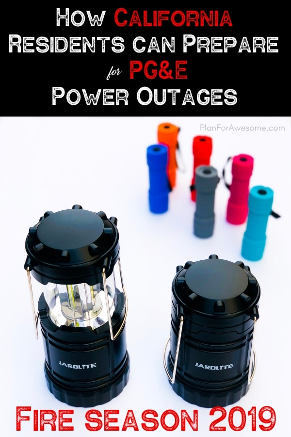 What an awesome resource for California residents to be able to prepare for this upcoming wildfire season in 2019 when PG&E will cut power for longer than 48 hours!  This girl is so thorough and helpful! #californiafires #poweroutage