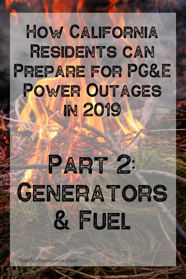 Awesome list for preparing for power outages - I'm using this list to make sure I'm ready for PG&E's planned power outages this fire season 2019!!! #poweroutage #beprepared