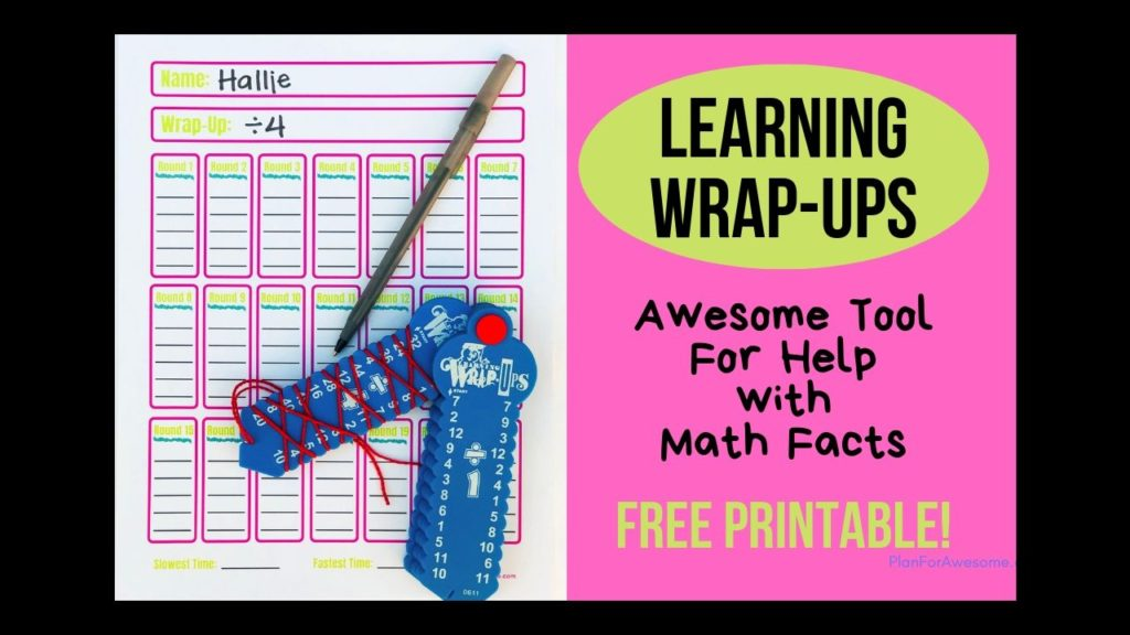 Learning Wrap-Ups are an awesome educational summer activity! Being a math tutor, I love the math bundle, and I use them all the time with students who are struggling with math facts.
