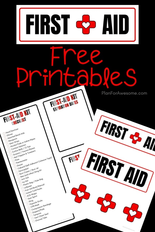 Adorable free printable checklist for your family's first aid kit, as well as labels for your kit, an expiration date tracker, and a notes section. This girl is SO HELPFUL because she explains why to include certain things, provides helpful links, and compares different products. GREAT resource! #firstaidkit #beprepared