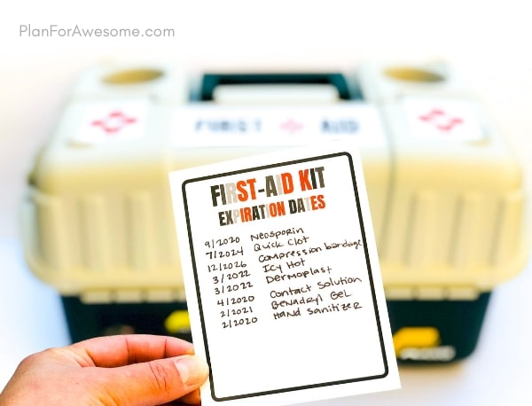 DIY First Aid Kit for Families with a Free Printable List