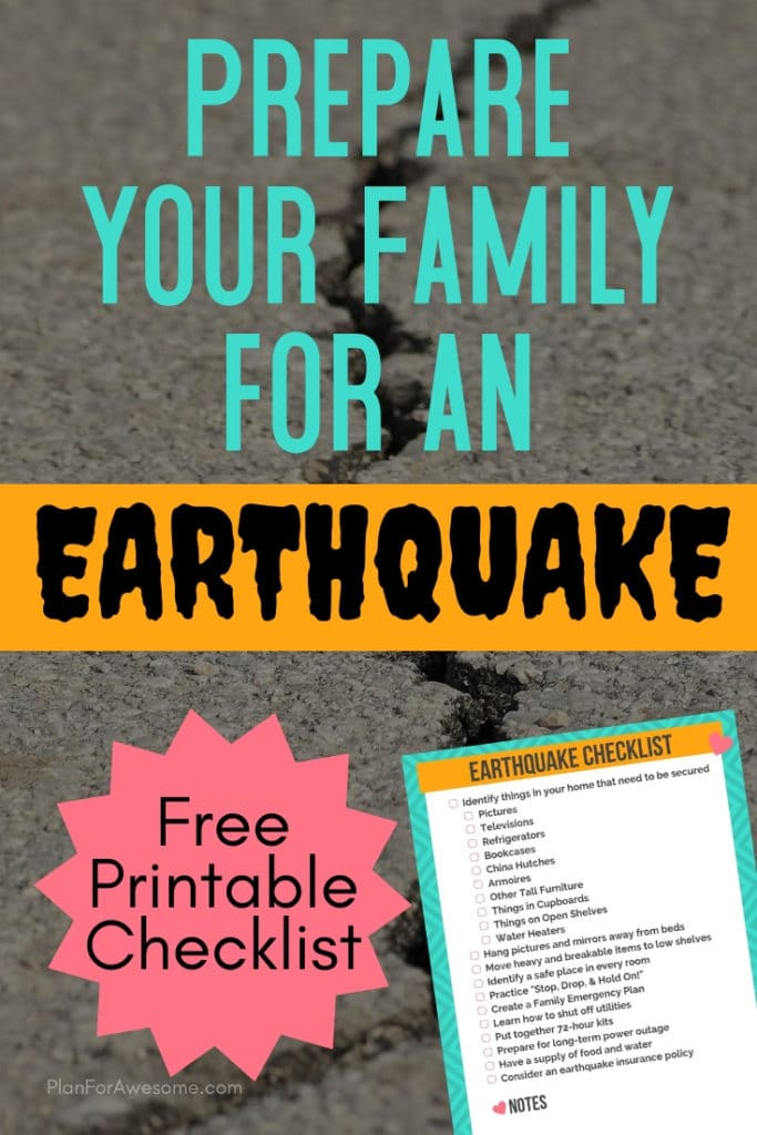 Prepare Your Family for an Earthquake - 11 Things to Do NOW!  You wouldn't think about some of these, but they are so important!  Prepare your home AND your family for an earthquake!