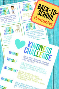 Free Printable Back-to-School Kindness Challenge! Can't wait to do this with my kids the first week of school - and these printables are ADORABLE! #kindness #backtoschool