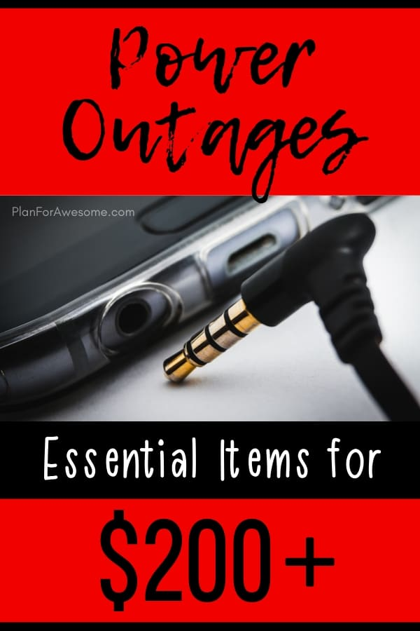 Essential items to have in your home in the event of an extended power outage, only a couple of them are over $200 -  the majority of them are $20-$30!!  What a GREAT resource - lots of pictures and easy to read!  Love this website: PlanForAwesome.com  #poweroutage #emergencypreparedness