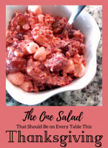 The One Salad That Should Be on Every Table This Thanksgiving - Freaking Bomb Cranberry Salad from PlanForAwesome.com! This salad is seriously amazing and is different from any other recipe I've seen out there!