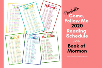 "This bright, colorful, and easy to read 2020 ""Come, Follow Me"" reading schedule for the Book of Mormon is perfect. You can even slip the whole set in your scriptures! #comefollowme2020 #CFMBookofMormon"