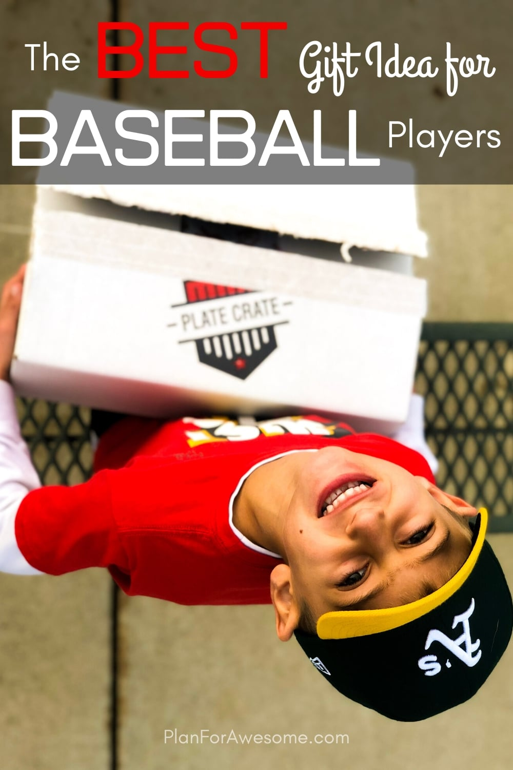The BEST GIFT EVER for Baseball Lovers (plus a $20 off coupon) - This is seriously the coolest and the easiest gift idea for baseball lovers and players!  A surprise box full of baseball gear, apparel, training aids, accessories, and snacks - I just ordered one for my little guy!  #baseballgiftideas #baseballmom