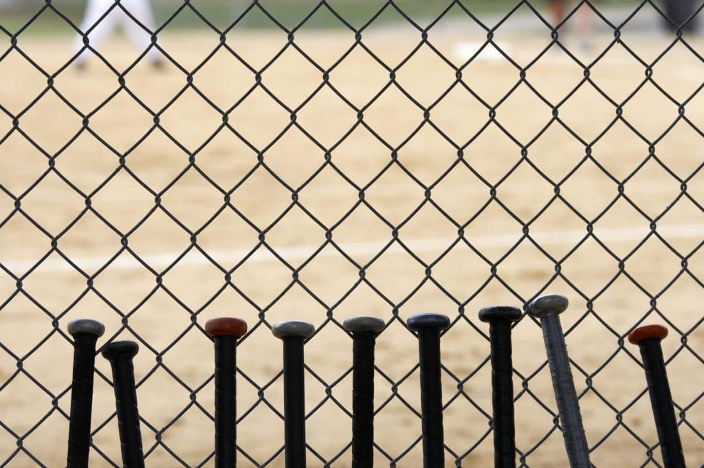 Bats at a Little League field - #littleleaguemom #baseballmomtips #baseballmom