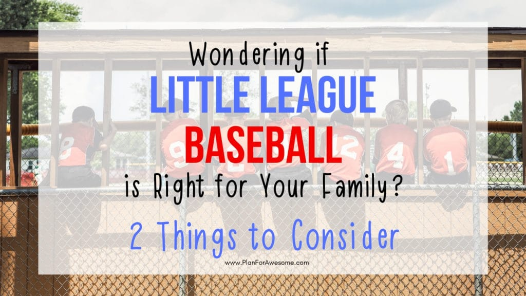 2 Things to Consider Before Signing Your Kid Up For Little League Baseball - this was so helpful when deciding whether or not to sign my son up for Little League Baseball - This girl is REAL and tells you how much it will ACTUALLY cost and how much of a time commitment it is. I love her website - super helpful! #littleleaguemom #baseballmomtips #baseballmom