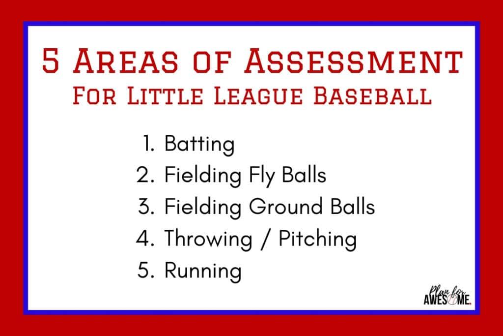 5 Areas of Assessment for Little League Baseball #baseballmom #littleleaguemom