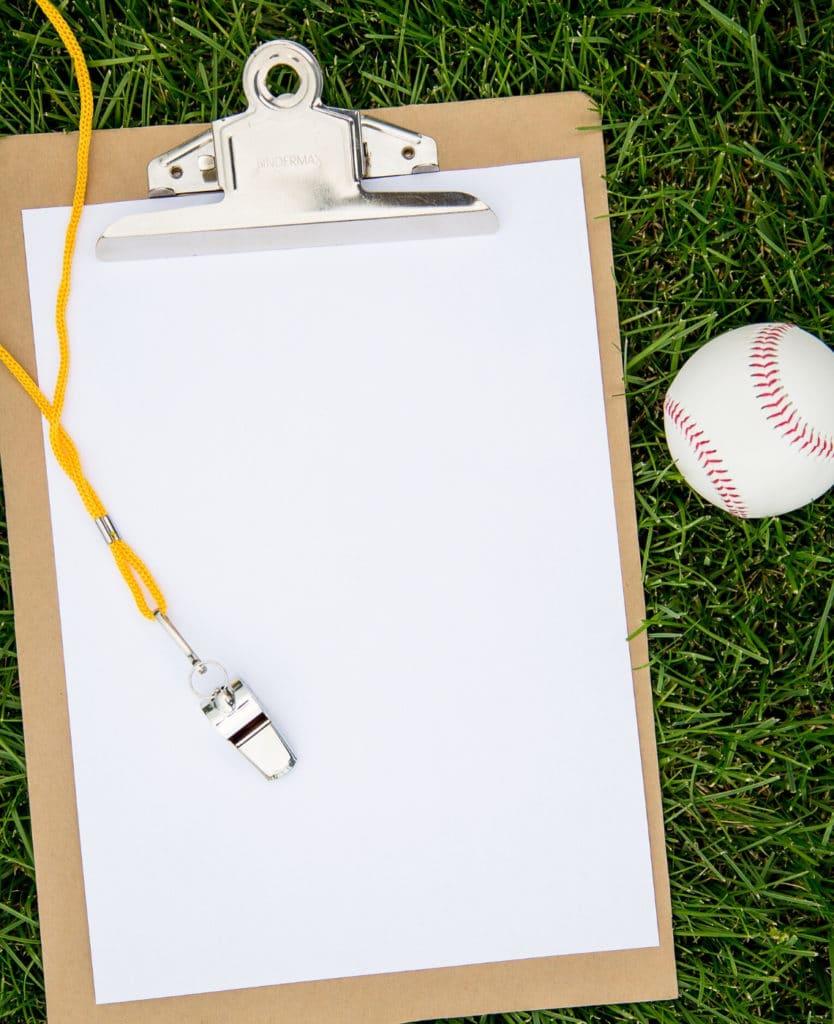 Picture of a Coach's Clipboard #baseballmom #littleleaguemom