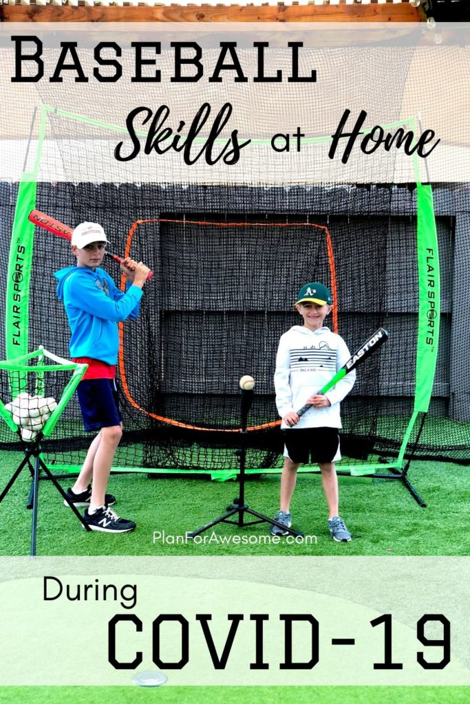 Awesome Ideas to Work on Baseball Skills at Home Amid COVID-19 - These are our favorite pieces of baseball equipment for our backyard and the best part is that the kids can do it by themselves!   #littleleaguemom #baseballpracticeathome