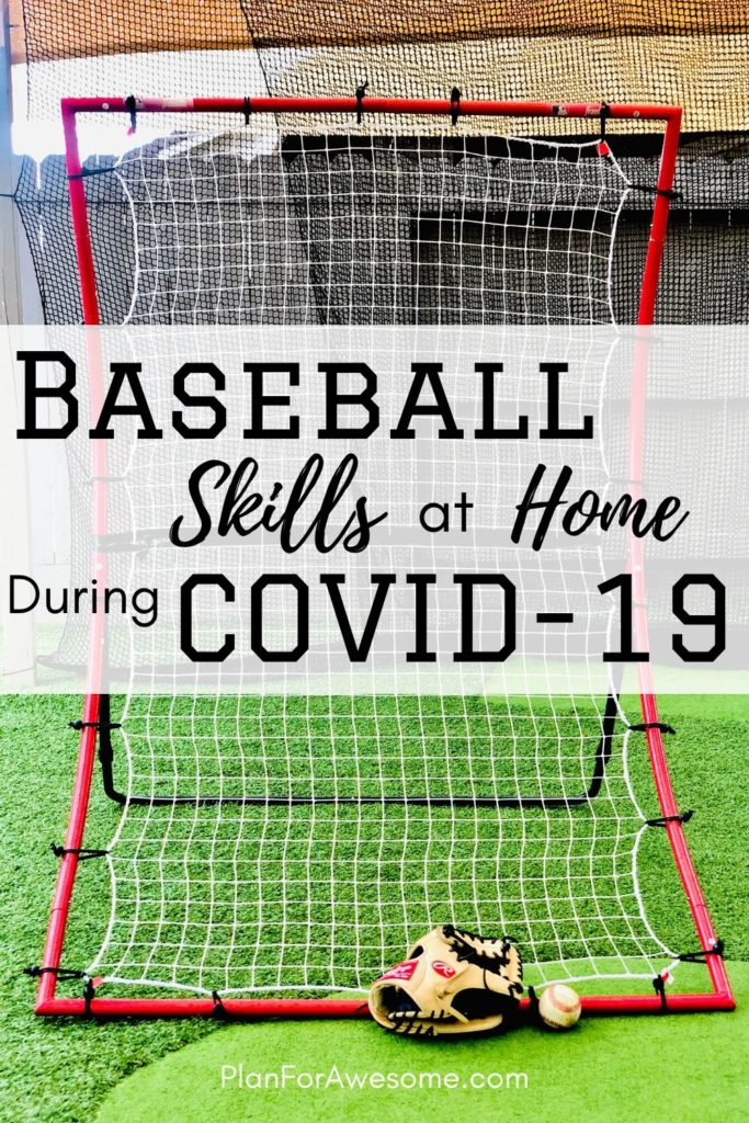 3 Genius Ideas to Work on Baseball Skills at Home Amid COVID-19 - This is our favorite piece of baseball equipment for our backyard - it is INCREDIBLE and is super affordable!  #littleleaguemom #baseballpracticeathome