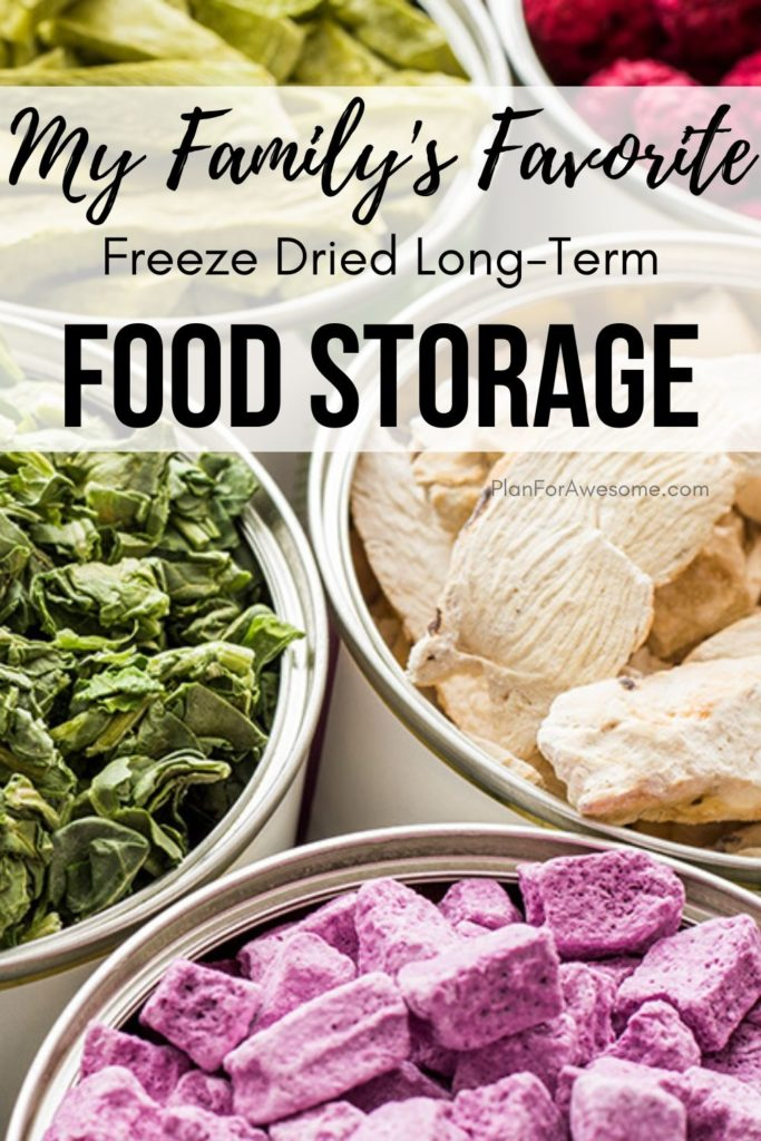 My Family's Favorite Freeze Dried Long-Term Food Storage - this article was SO HELPFUL, especially since I am trying to get more prepared with the coronavirus!  This girl answered all of my questions about long-term food storage, what the difference is between freeze dried and dehydrated food, what the best deals are, etc!  #foodstorage #longtermfoodstorage #coronavirus