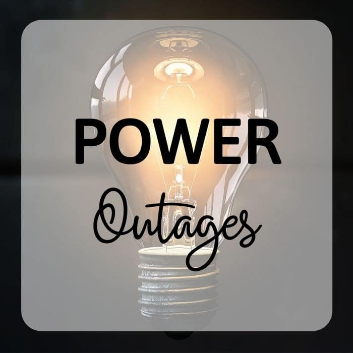 Emergency Preparedness - Preparing for Power Outages