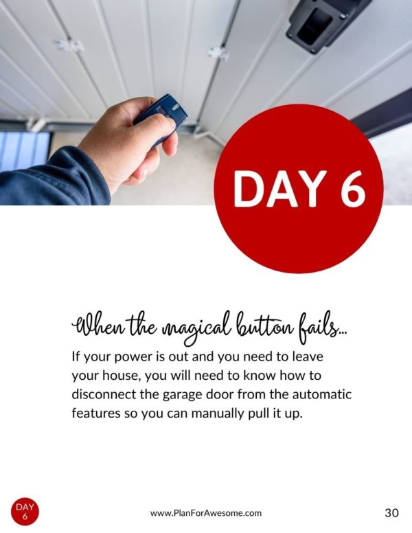 Ebook - One Month of Emergency Preparedness for Families - Day 6