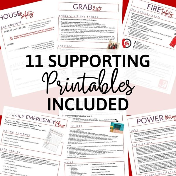 Printables for getting prepared